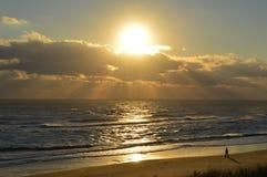 Queda do nascer do sol de OBX de 2014 fotografia de stock