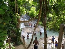 Queda do ` s de Dunn, Rios de Ocho, Jamaica Fotos de Stock Royalty Free