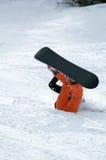 Queda do Snowboarder Fotografia de Stock