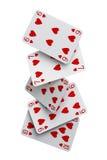 Queda dos cartões do resplendor reto Fotos de Stock Royalty Free