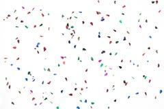 Queda dos confetes do balão do aniversário fotos de stock royalty free