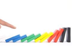 Queda dos dominós foto de stock royalty free