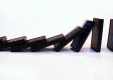 Queda dos dominós Imagens de Stock Royalty Free