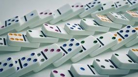 Queda dos dominós nas linhas video estoque