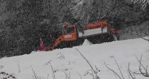 Queda dos flocos de neve do inverno vídeos de arquivo