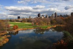 Queda em Central Park Fotografia de Stock