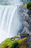 Queda em ferradura, Niagara Falls, Ontário, Canadá Foto de Stock Royalty Free