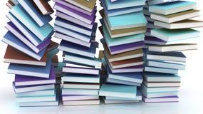 Queda empilhada de muitos livros foto de stock royalty free