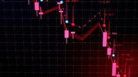 Queda financeira do diagrama no mercado bearish, mostrando a retirada ou a crise financeira imagem de stock