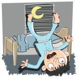 Queda fora da cama ilustração royalty free
