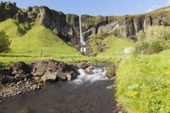 Queda Islândia Kirkjubæjarklaustur Skaftafel Fotos de Stock Royalty Free