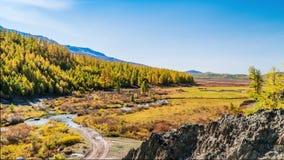 Queda nas montanhas Panorama da paisagem video estoque