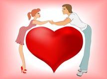 Queda no amor Fotografia de Stock Royalty Free