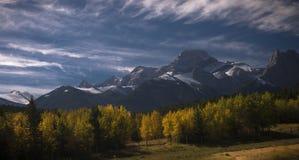 Queda no canadense Montanhas Rochosas Imagens de Stock