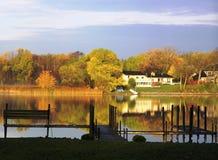 Queda no lago Minnetonka foto de stock