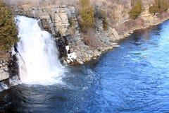 Queda preta do rio Fotografia de Stock