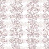 A queda sem emenda deixa o teste padrão, papel de parede floral, mão tirada, vect Imagens de Stock Royalty Free
