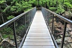Quedas altas desfiladeiro, Wilmington, New York, Estados Unidos Fotografia de Stock