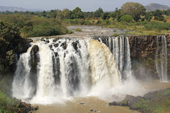 Quedas azuis do Nilo, Bahar Dar, Etiópia fotos de stock royalty free