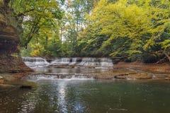 Quedas Bentleyville Ohio da rocha da pedreira fotos de stock royalty free