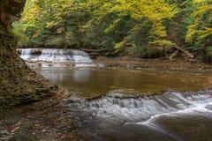 Quedas Bentleyville Ohio da rocha da pedreira imagens de stock royalty free