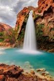 Quedas bonitas de Havasu, Supai, o Arizona Foto de Stock
