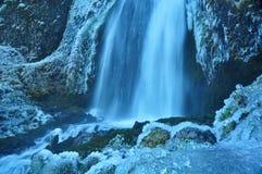 Quedas congeladas da água Imagem de Stock Royalty Free