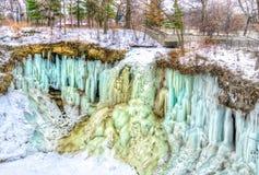 Quedas congeladas de Minnehaha Imagem de Stock Royalty Free
