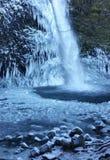 Quedas congeladas do Horsetail Fotografia de Stock