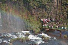 Quedas da água de Iguazu foto de stock royalty free