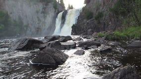 Quedas da água do rio do batismo video estoque