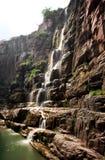 Quedas da água e cascatas YUN-TAI da montanha China Imagem de Stock Royalty Free
