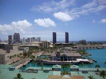 Quedas da arquitetura da cidade de Clyde e de Honolulu Fotografia de Stock