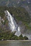 Quedas da senhora Bowen, Milford Sound, Nova Zelândia Imagem de Stock