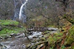 Quedas de Aber, parque nacional de Snowdonia, Gales norte Imagem de Stock Royalty Free