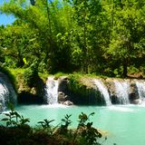 Quedas de Cambugahay, Siquijor Fotografia de Stock Royalty Free