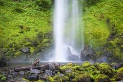 Quedas de Elowah, desfiladeiro de Colômbia, Oregon Imagens de Stock