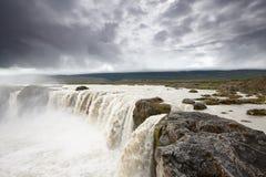 Quedas de Godafoss, Islândia Imagem de Stock