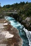 Quedas de Huka, Nova Zelândia Imagens de Stock