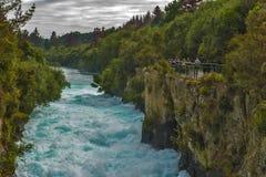 Quedas de Huka, Nova Zelândia Fotos de Stock