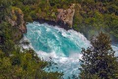 Quedas de Huka, Nova Zelândia Fotografia de Stock Royalty Free