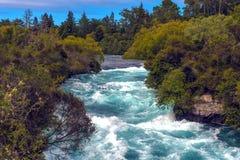 Quedas de Huka, Nova Zelândia Fotos de Stock Royalty Free