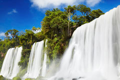 Quedas de Iguassu, vista do lado argentino Imagem de Stock