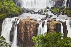 Quedas de Iguassu, vista do lado brasileiro Fotos de Stock