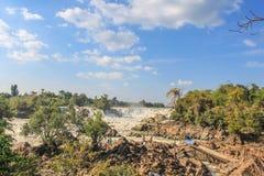 Quedas de Khone Phapheng, Laos do sul Fotografia de Stock Royalty Free