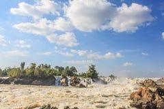 Quedas de Khone Phapheng, Laos do sul Imagem de Stock
