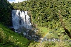 Quedas de Marokopa, Waikato fotos de stock royalty free