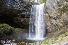 Quedas de Moul, Wells Gray Provinicial Park, BC, Canadá Imagem de Stock