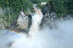 Quedas de San Rafael A cachoeira a maior em Equador Imagens de Stock Royalty Free