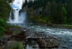 Quedas de Snoqualmie, Washington imagem de stock